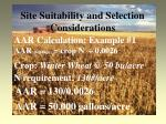 site suitability and selection considerations21