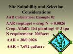 site suitability and selection considerations22