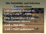 site suitability and selection considerations23