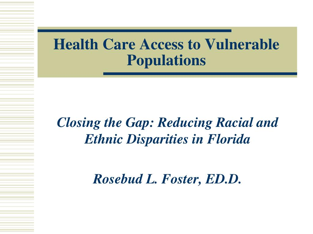 health care access to vulnerable populations l.