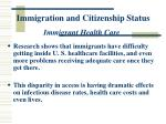 immigration and citizenship status