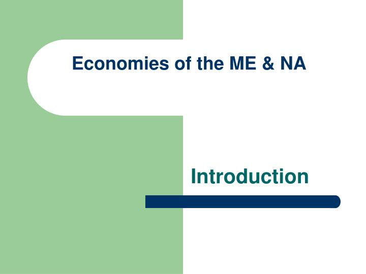 economies of the me na n.