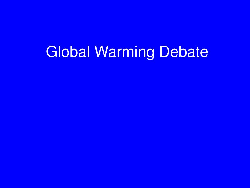global warming debate l.
