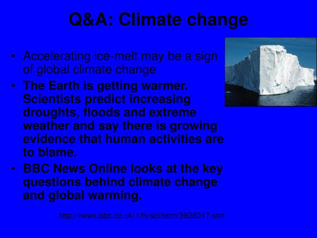 Q&A: Climate change