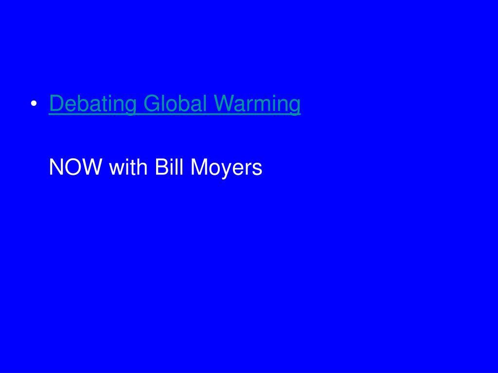 Debating Global Warming