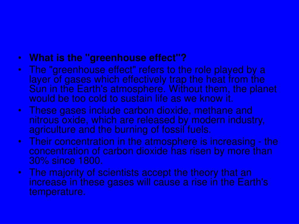 """What is the """"greenhouse effect""""?"""