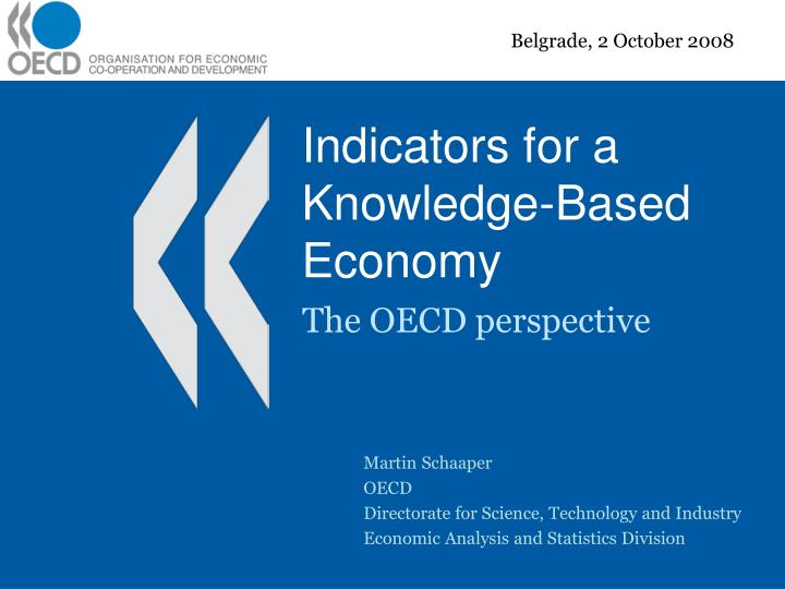 indicators for a knowledge based economy n.