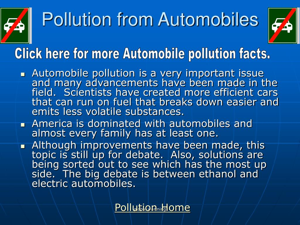 Pollution from Automobiles