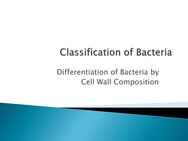 classification of bacteria n.