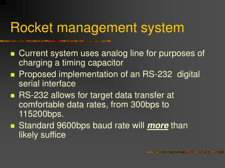 Rocket management system
