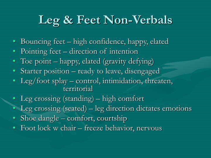 Leg & Feet Non-Verbals