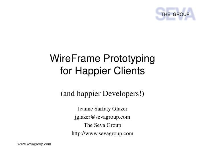 wireframe prototyping for happier clients n.