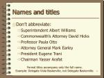 names and titles24