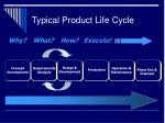 typical product life cycle