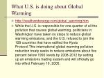 what u s is doing about global warming