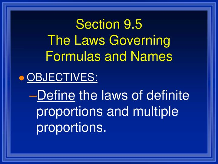 Section 9.5