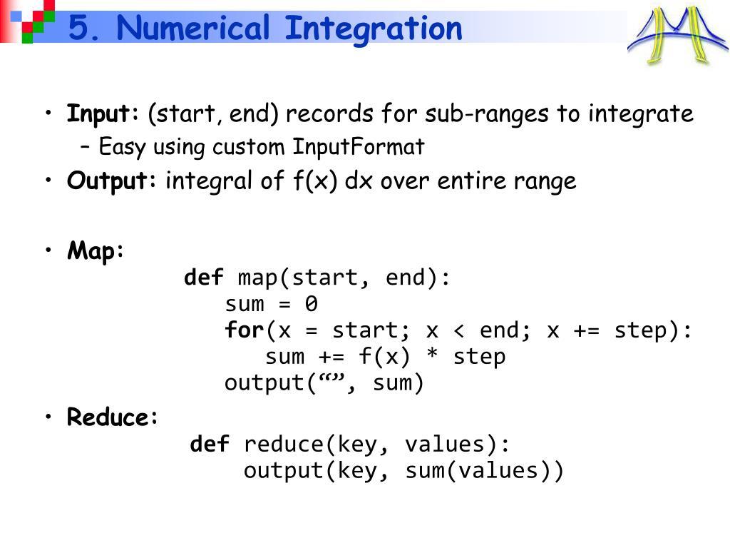 5. Numerical Integration