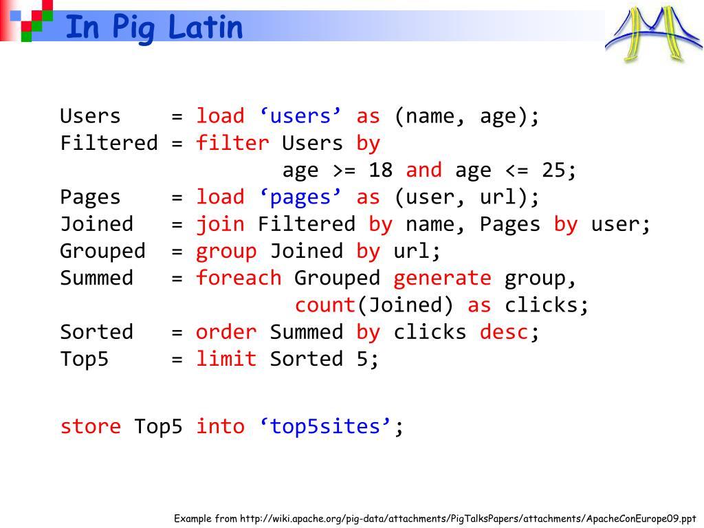 In Pig Latin