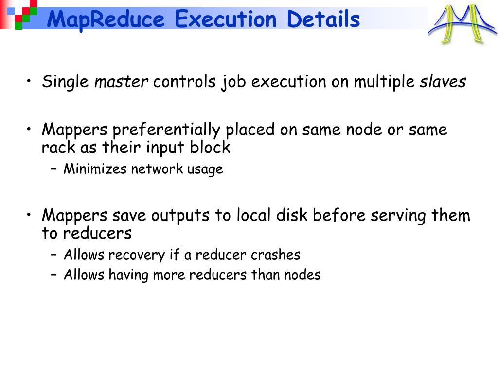 MapReduce Execution Details