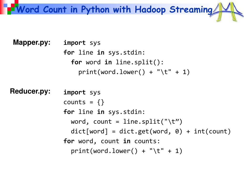 Word Count in Python with Hadoop Streaming