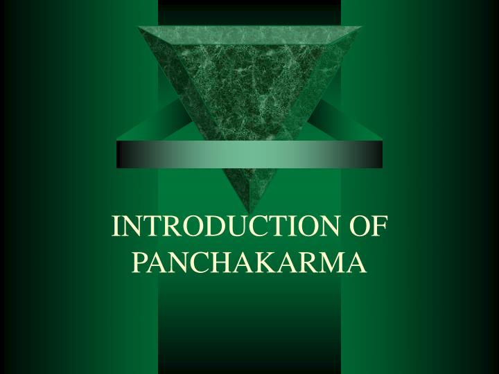 introduction of panchakarma n.