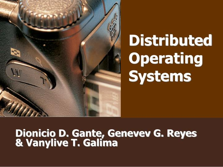 distributed operating systems n.