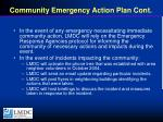 community emergency action plan cont