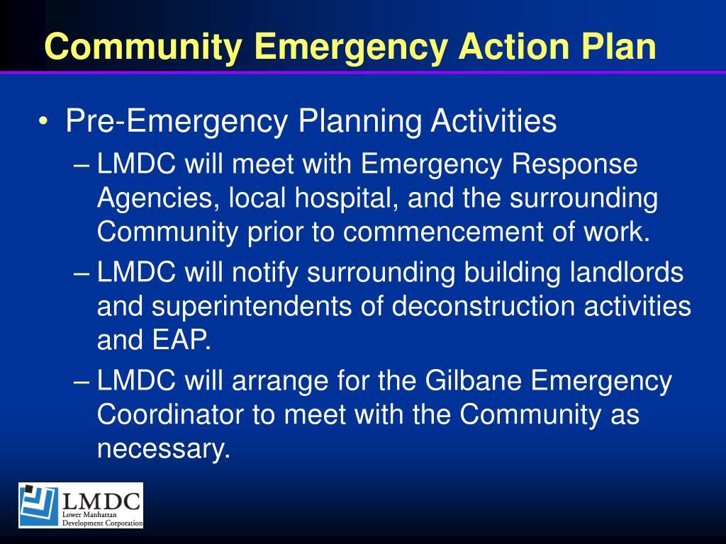 Community Emergency Action Plan