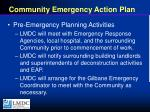 community emergency action plan