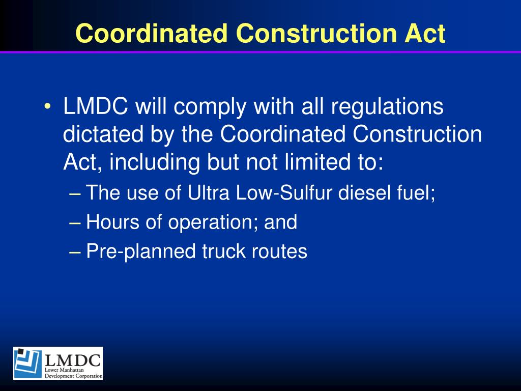 Coordinated Construction Act