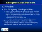 emergency action plan cont