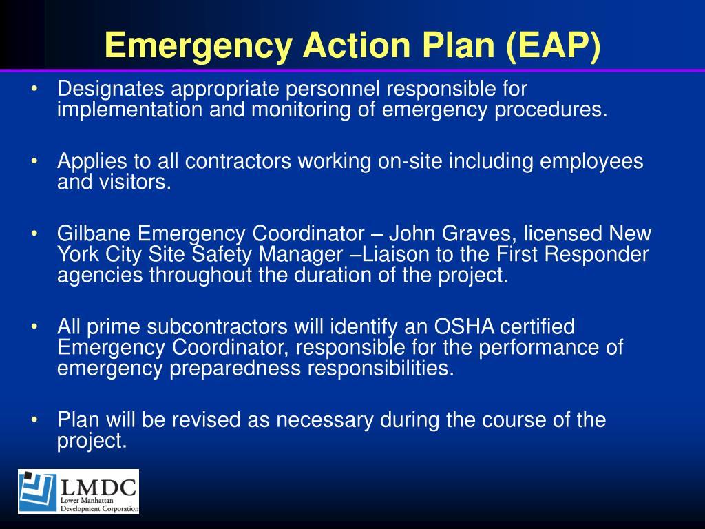 Emergency Action Plan (EAP)