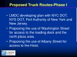 proposed truck routes phase i