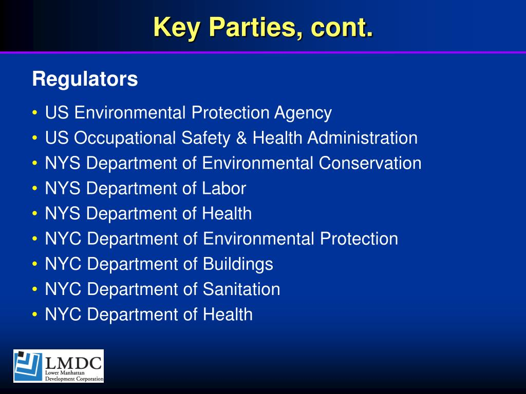 Key Parties, cont.