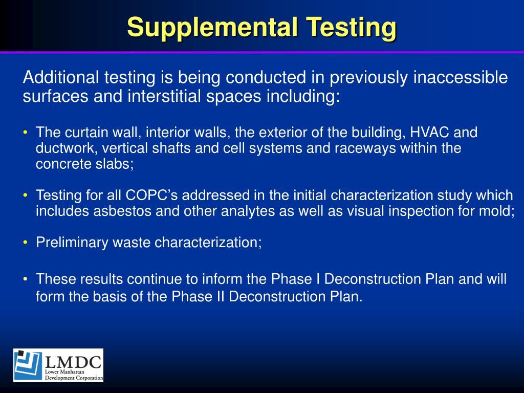 Supplemental Testing