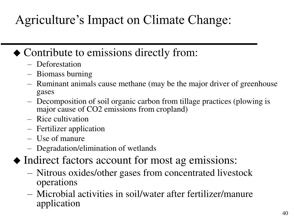 Agriculture's Impact on Climate Change: