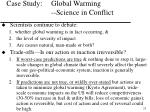 case study global warming science in conflict