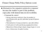 climate change public policy options cont