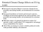 potential climate change effects on us ag cont