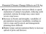 potential climate change effects on us ag