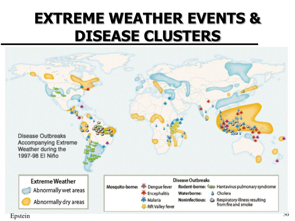 EXTREME WEATHER EVENTS & DISEASE CLUSTERS