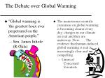 the debate over global warming
