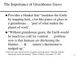 the importance of greenhouse gases