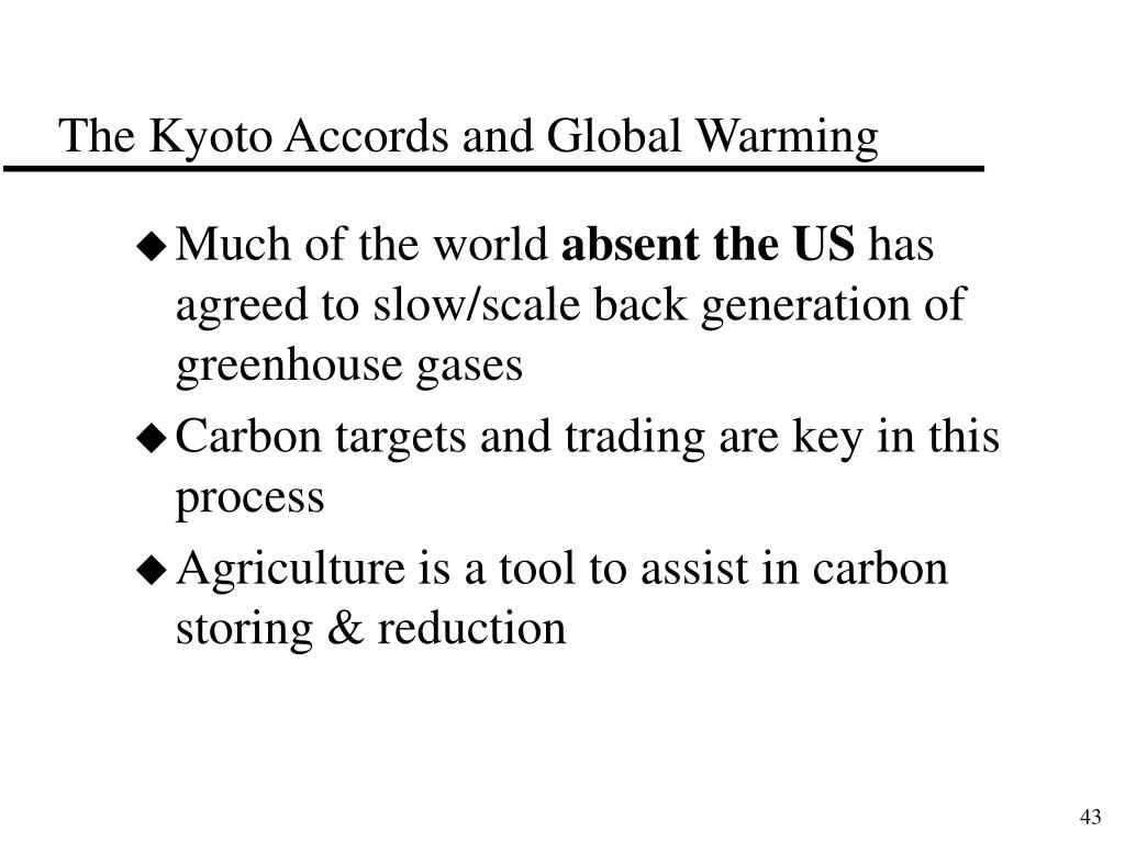 The Kyoto Accords and Global Warming