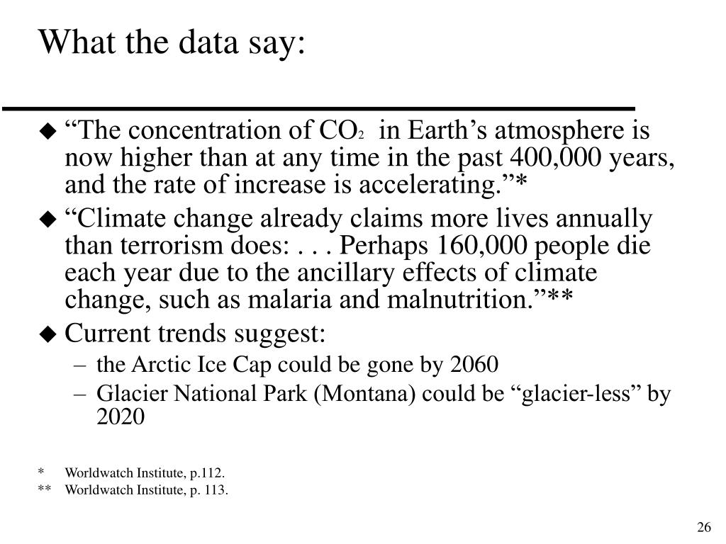 What the data say: