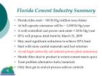 florida cement industry summary