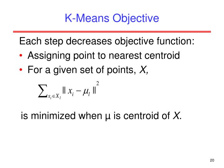 K-Means Objective