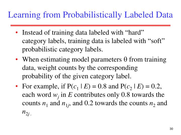 Learning from Probabilistically Labeled Data