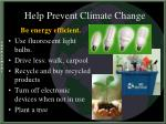 help prevent climate change