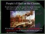 people s effect on the climate